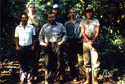 Mario Ramos (center) and field trip participants in Venezuela